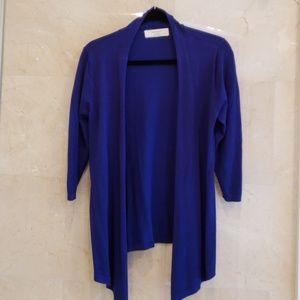 WOMEN'S BRAND NEW ZARA ROYAL BLUE SHRUG SWEATER